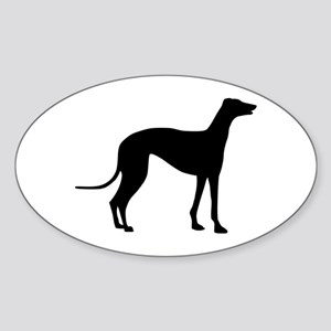 Greyhound Sticker (Oval)
